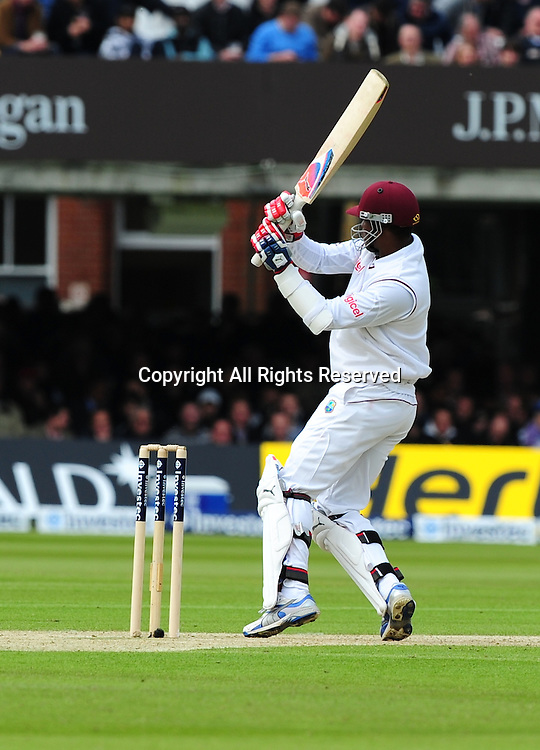17.05.2012 London, England.  Marlon Samuels in action during the First Test between England and West Indies from Lords.