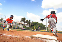 Kids play basseball at Silver Lakes Sports Complex  on 2013. Photo/Cristobal Herrera