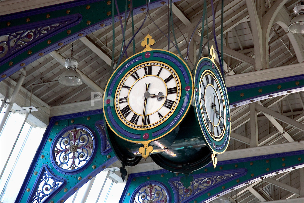 Clock; Smithfield meat market; London UK