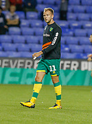Norwich City forward Jordan Rhodes (11), on loan from Sheffield Wednesday, warms up during the EFL Sky Bet Championship match between Reading and Norwich City at the Madejski Stadium, Reading, England on 19 September 2018.