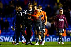 Swansea City manager Graham Potter hugs Martin Olsson of Swansea City - Mandatory by-line: Robbie Stephenson/JMP - 17/08/2018 - FOOTBALL - St Andrew's Stadium - Birmingham, England - Birmingham City v Swansea City - Sky Bet Championship