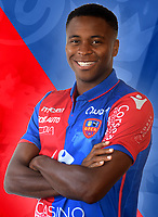 Robert Maah during photoshooting of Gazelec Ajaccio for new season 2017/2018 on September 26, 2017 in Ajaccio<br /> Photo : Gfca / Icon Sport
