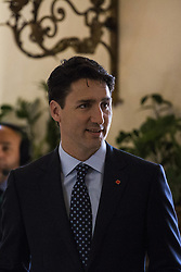 May 27, 2017 - Taormina, Sicily, Italy - Canadian Prime Minister Justin Trudeau at the G7 Summit expanded session in Taormina, Sicily, on May 27, 2017. (Credit Image: © Christian Minelli/NurPhoto via ZUMA Press)