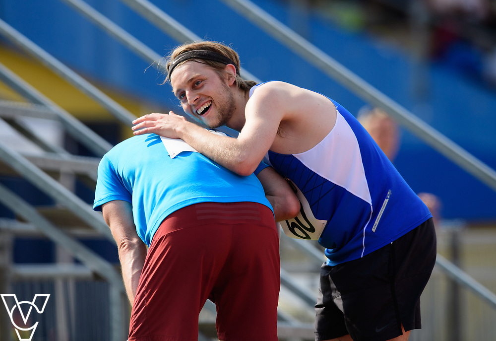 Metro Blind Sport's 2017 Athletics Open held at Mile End Stadium.  5000m.  Rhys Jones, left, and Tom Skelton<br /> <br /> Picture: Chris Vaughan Photography for Metro Blind Sport<br /> Date: June 17, 2017