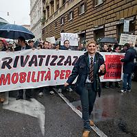 Autoferrotramvieri contro la privatizzazione del trasporto pubblico