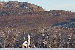 The Wonalancet Union Chapel in Wonalancet, New Hampshire.  White Mountains.