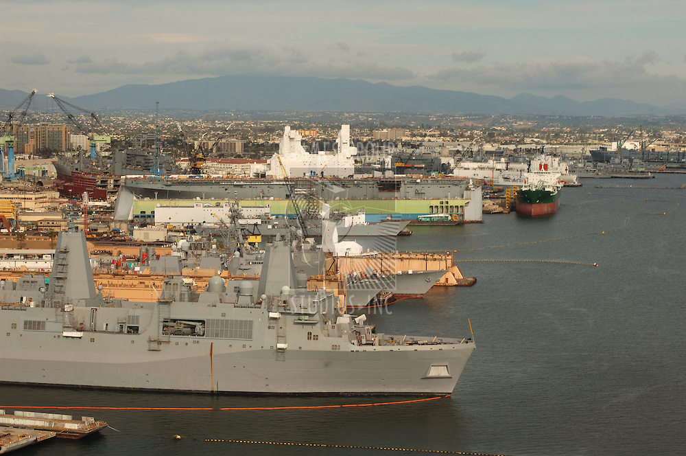 Ship yard in San Diego