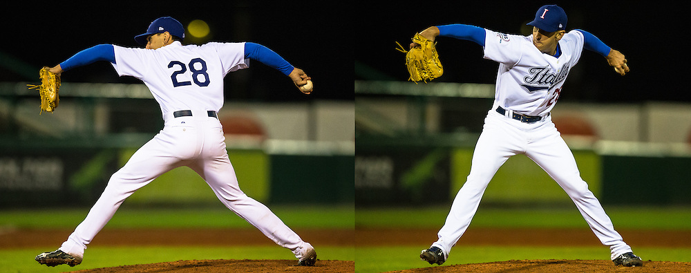 Pat Venditte, Switch pitcher for team Italy, Euro 2014.