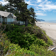 House over looking Arcadia Beach. Oregon Coast.