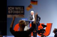 20 SEP 2002, BERLIN/GERMANY:<br /> Edmund Stoiber, CSU, Ministerpraesident Bayern und CDU/CSU Kanzlerkandidat, waehrend seiner Rede auf der CDU Wahlkampfabschlussveranstaltung, Max-Schmeling-Halle<br /> IMAGE: 20020920-01-017<br /> KEYWORDS: Wahlkampf, Abschluss, Abschluß, Kundgebung, speech