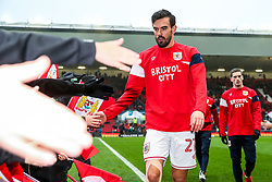 Marlon Pack of Bristol City comes in from the warmup - Rogan/JMP - 27/01/2018 - Ashton Gate Stadium - Bristol, England - Bristol City v Queens Park Rangers - Sky Bet Championship.