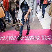 Secondo giorno della settimana della moda 2010 a Milano..Sfilata della stilista Beccaria persso l'accademia di Brera.<br /> <br /> Second day of the Milan fashion week..The fashion show of the Beccaria stylist in Brera Academy.
