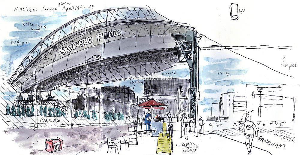 Safeco Field, home of the Seattle Mariners in the SODO neighborhood of Seattle. <br />