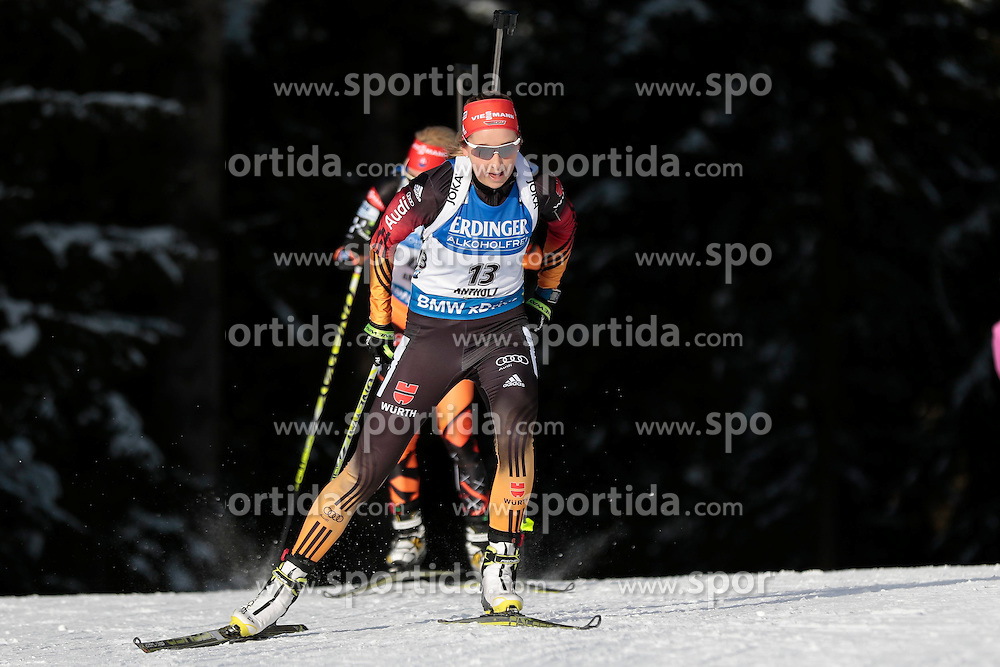 23.01.2015, Suedtirol Arena, Antholz, ITA, IBU Weltcup Biathlon, Antholz, Sprint Damen, im Bild Franziska Preuss (GER) // during the Ladies Sprint of IBU Biathlon World Cup at the Suedtirol Arena in Antholz, Italy on 2015/01/23. EXPA Pictures © 2015, PhotoCredit: EXPA/ Federico Modica