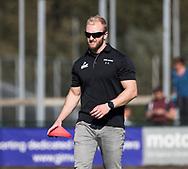 WASSENAAR - trainer Jaap van Everdingen (HGC)  voor   de hoofdklasse hockeywedstrijd HGC-Den Bosch (3-2). COPYRIGHT KOEN SUYK