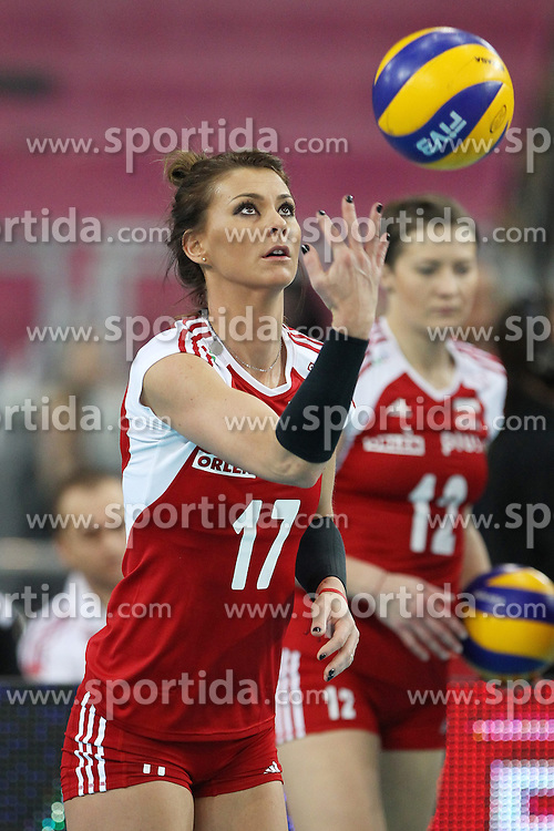 04.01.2014, Atlas Arena, Lotz, POL, FIVB, Damen WM Qualifikation, Polen vs Spanien, im Bild KATARZYNA SKOWRONSKA - DOLATA SYLWETKA // KATARZYNA SKOWRONSKA - DOLATA SYLWETKA during the ladies FIVB World Championship qualifying match between Poland and Spain at the Atlas Arena in Lotz, Poland on 2014/01/04. EXPA Pictures &copy; 2014, PhotoCredit: EXPA/ Newspix/ Maciej Goclon<br /> <br /> *****ATTENTION - for AUT, SLO, CRO, SRB, BIH, MAZ, TUR, SUI, SWE only*****