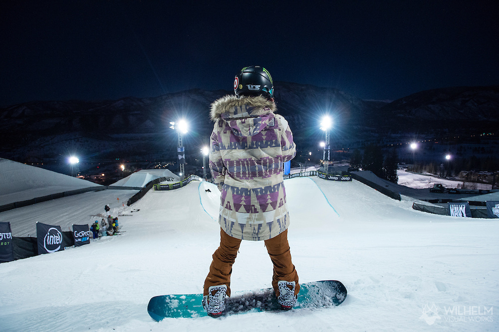 Chloe Kim during Superpipe Practice at the 2016 X Games Aspen in Aspen, CO. ©Brett Wilhelm/ESPN