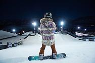 Chloe Kim during Superpipe Practice at the 2016 X Games Aspen in Aspen, CO. ©Brett Wilhelm/ESPN
