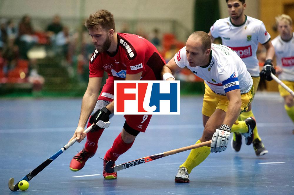BERLIN - Indoor Hockey World Cup<br /> Kazakhstan - Poland<br /> foto: MORARD Yves and Matthew Fairwetaher.<br /> WORLDSPORTPICS COPYRIGHT FRANK UIJLENBROEK
