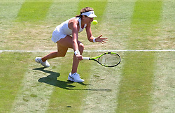 LONDON, ENGLAND - Tuesday, July 3, 2018: Johanna Konta (GBR) during the Ladies' Singles 1st Round match on day two of the Wimbledon Lawn Tennis Championships at the All England Lawn Tennis and Croquet Club. (Pic by Kirsten Holst/Propaganda)