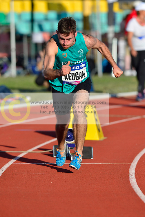 Paul Keogan, IRE warming up to compete in the T37, 400m at the Berlin 2018 World Para Athletics European Championships