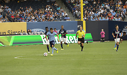 August 20, 2017 - New York, New York, United States - David Villa (7) of NYC FC controls ball during regular MLS game against New England Revolution on Yankee stadium NYC FC won 2 - 1  (Credit Image: © Lev Radin/Pacific Press via ZUMA Wire)