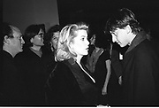 Catherine Deneuve and James Truman.  James Truman party for Malcolm Mclaren, New York 1995© Copyright Photograph by Dafydd Jones 66 Stockwell Park Rd. London SW9 0DA Tel 020 7733 0108 www.dafjones.com<br />