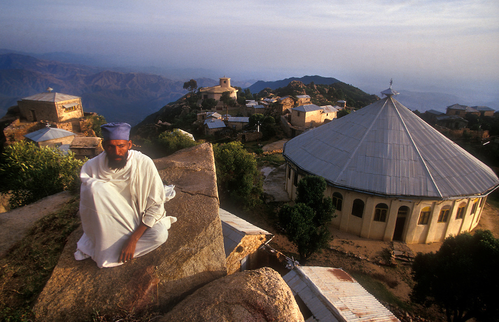 Ethiopian students spend 4 hours a day learning the ancient scriptures in Ge'ez  at the Debre Bizen Monastery, 8,000 feet above sea level and 20kms from Asmara, the capital of Eritrea..