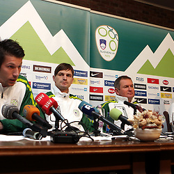 20110321: SLO, Football - Press conference of Matjaz Kek and some players of Slovenian national team
