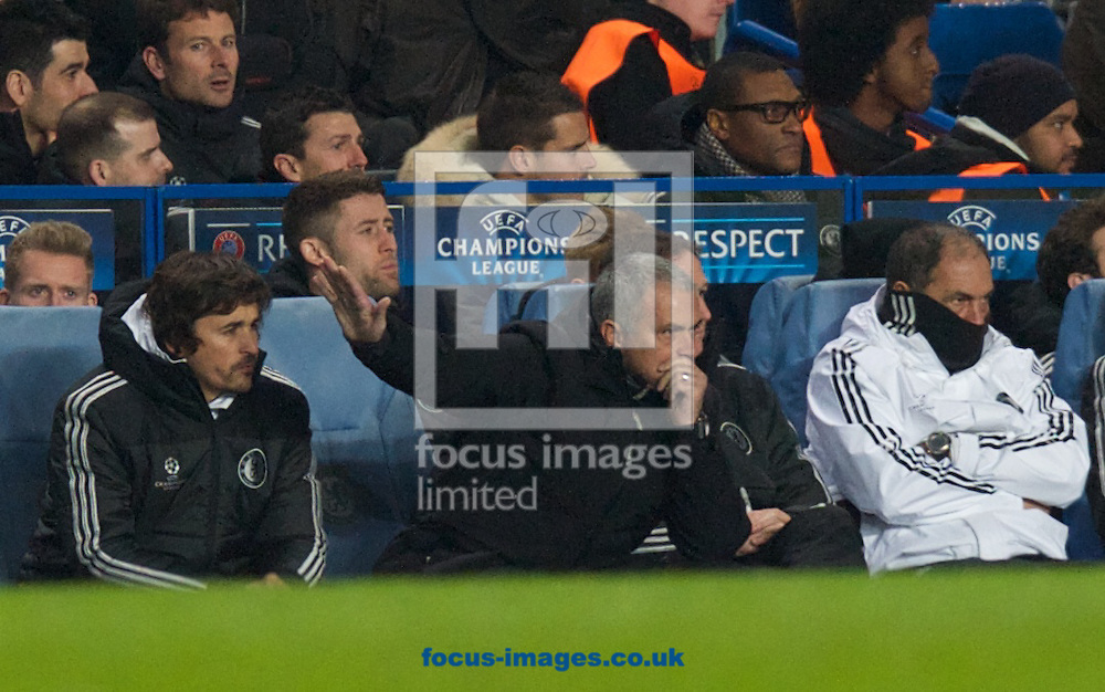 Picture by Alan Stanford/Focus Images Ltd +44 7915 056117<br /> 11/12/2013<br /> Manager Jose Mourinho of Chelsea during the UEFA Champions League match at Stamford Bridge, London.