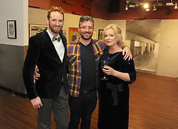 Westival Gallery opening October 2018,<br />Conor Wilson, Derek Dark and Karen Whyte<br /> Photo Conor McKeown