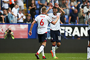 Bolton Wanderers midfielder Will Buckley (11) celebrates his goal 1-0 during the EFL Sky Bet Championship match between Bolton Wanderers and Bristol City at the Macron Stadium, Bolton, England on 11 August 2018.