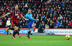 Jack Wilshere of Arsenal shoots at goal. - Mandatory by-line: Alex James/JMP - 14/01/2018 - FOOTBALL - Vitality Stadium - Bournemouth, England - Bournemouth v Arsenal - Premier League