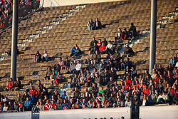 HELSINKI, FINLAND - Friday, July 31, 2015: A low turn-out of Liverpool supporters during a friendly match against HJK Helsinki at the Olympic Stadium. (Pic by David Rawcliffe/Propaganda)