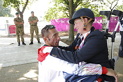 Näpel, Britta;<br /> Fliegl, Bernhard, <br /> London Paralympics 2012<br /> Grade II Freestyle<br /> © www.sportfotos-lafrentz.de/ Stefan Lafrentz
