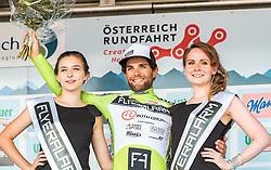 08.07.2016, Stegersbach, AUT, Ö-Tour, Österreich Radrundfahrt, 6. Etappe, Graz nach Stegersbach, im Bild Andrea Pasqualon (ITA, Team Roth, grünes Trikot) // Andrea Pasqualon (ITA Team Roth green Jersey) during the Tour of Austria, 6th Stage from Gratz to Stegersbach, Austria on 2016/07/08. EXPA Pictures © 2016, PhotoCredit: EXPA/ JFK