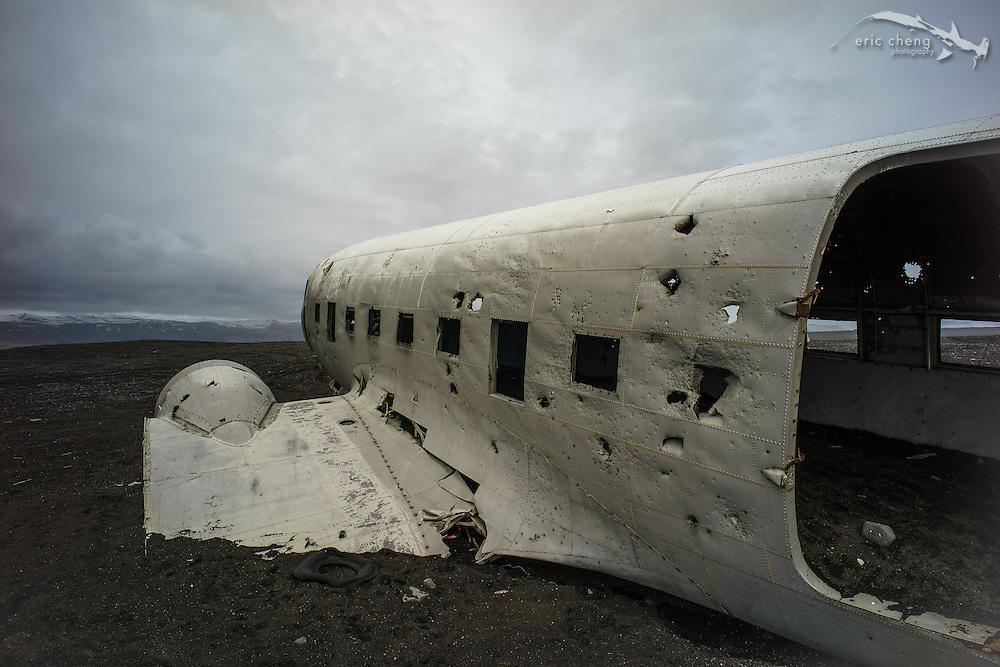 United States Navy DC-3 plane wreck near Solheimasandur (Sólheimasandur), Iceland.