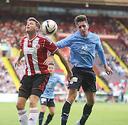 Sheffield United's Chris Porter and Dundee trialist Adam Dodd - Sheffield United v Dundee, pre season friendly at Bramall Lane<br /> <br />  - &copy; David Young - www.davidyoungphoto.co.uk - email: davidyoungphoto@gmail.com
