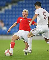 Fussball International Laenderspiel Oesterreich - Venezuela  Oesterreichs Thomas Prager (li.) gegen Miguel Mea Vitali