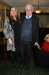 RICHARD INGRAMS and his wife SARA INGRAMS at the Oldie Magazine's Oldie of The Year Awards held at Simpson's In The Strand, London on 4th February 2014.
