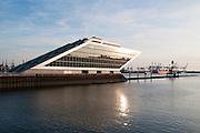 """Buerohaus Dockland am ehemaligen Hamburger Fischereihafen, Hamburg, Deutschland. .office building """"Dockland"""", Hamburg, Germany."""