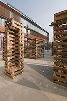 Sami Rintala and Dagur Eggertsson installation in Sanlitun North Village, Beijing. October 2009.