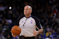 Feb 15, 2012; Oakland, CA, USA; NBA referee David Jones (36) during the first quarter between the Golden State Warriors and the Portland Trail Blazers at Oracle Arena. Portland defeated Golden State 93-91. Mandatory Credit: Jason O. Watson-US PRESSWIRE