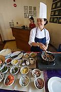 Cuai Dai Beach. Victoria Hoi An Beach Resort & Spa. Breakfast buffet at the restaurant. The omelette lady.