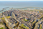 Nederland, Friesland, Harlingen, 28-02-2016; overzicht Harlingen met Zuiderhaven, Havenmond en Nieuwe Voorhaven.<br /> Overview Harlingen harbor.<br /> luchtfoto (toeslag op standard tarieven);<br /> aerial photo (additional fee required);<br /> copyright foto/photo Siebe Swart