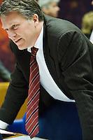 Nederland. Den Haag, 19 juni 2007.<br /> Wouter Bos met stropdas<br /> Debat in de Tweede kamer inzake het beleidsprogramma van het vierde kabinet Balkenende. De fractievoorzitters in de Tweede Kamer debatteren met premier Balkenende over het op donderdag 14 juni 2007 gepresenteerde beleidsprogramma van het kabinet Balkenende IV. ( vier / 4 ) Het definitieve beleidsprogramma van het kabinet, dat verder invulling geeft aan het regeerakkoord, Dit programma is gemaakt aan de hand van de honderd dagen die het kabinet in het land doorbracht.<br /> Foto Martijn Beekman <br /> NIET VOOR TROUW, AD, TELEGRAAF, NRC EN HET PAROOL