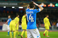 Delusione di Dries Mertens Napoli, dejection <br /> Napoli 25-02-2016 Stadio San Paolo <br /> Football Calcio UEFA Europa League <br /> Sedicesimi di finale, ritorno. Round of 32, second leg. Napoli - Villarreal<br /> Foto Cesare Purini / Insidefoto