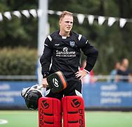 AMSTELVEEN - keeper Stefano Wienen (Nijmegen) voor de wedstrijd.   Play Outs Hockey hoofdklasse. Pinoke-Nijmegen (1-1) . Pinoke wint de shoot outs en blijft in de hoofdklasse. COPYRIGHT KOEN SUYK