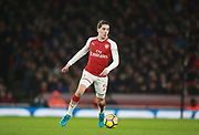 Arsenal's Hector Bellerin during the Premier League match between Arsenal and Newcastle United at the Emirates Stadium, London, England on 16 December 2017. Photo by John Marsh.