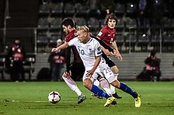 October 9, 2017 - Turku, Finland - Joel Pohjanpalo  of Finland during the FIFA World Cup 2018 qualification football match between Finland and Turkey in Turku, Finland on October 9, 2017. (Credit Image: © Antti Yrjonen/NurPhoto via ZUMA Press)